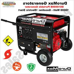 DuroStar 10,000 Watt, 18 HP Portable Gas Generator with Elec