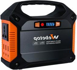Webetop 100-W Quiet Portable Solar Power Station Inverter Ge