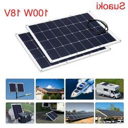 Suaoki 100W Solar Panel Solar Generator 18V Flexible Off Gri