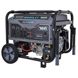 Pulsar 12,000W Dual Fuel Portable Generator in Space Gray wi