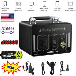 500Wh Portable Power Generator LiOn Charger Power Bank AC DC