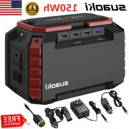 Suaoki 150Wh Portable Solar Power Inverter Generator Supply