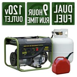 2,000/1,400-Watt Dual Fuel Powered Portable Generator Runs o