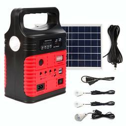 Red Portable Solar Generator Solar Panel Solar Power Inverte