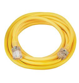Coleman Cable 02687 10/3 Vinyl Outdoor Extension Cord with L