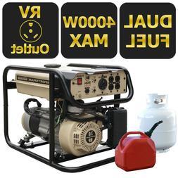 Sportsman 4000-W Portable Hybrid Dual Fuel Gas Generator Hom