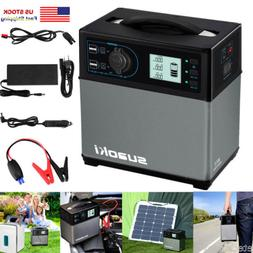 400Wh Portable Solar Power Generator Supply Outlet Car 4 USB