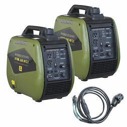 4400 Watt Dual Fuel Portable Inverter Generator Kit with 50
