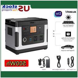 Suaoki 500WH 12V Portable Solar Generator Bank Inverter Powe