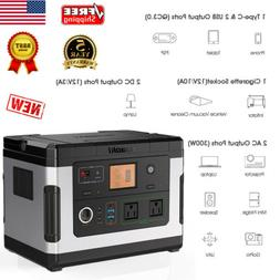 500Wh Portable Power Station Solar Generator Emergency Energ