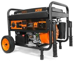 WEN 56475 Generator with Electric Start and Wheel Kit, CARB