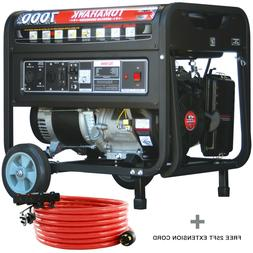 7000 Watt Generator Gas Power Portable Home Use Residential