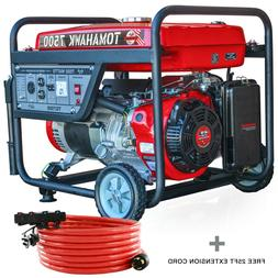 7500 Watt Generator Gas Power Portable Home Use Residential