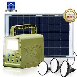 84Wh Power Station Solar Generator Lighting Kit Solar Light