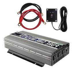 Power TechOn 2000W Pure Sine Wave Power Inverter 12V DC to 1
