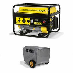 Champion 3500 Watt Portable Quiet Gas Powered Generator + Vi