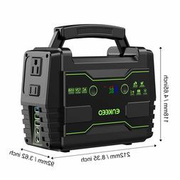 ENKEEO Portable Power Station, 155Wh Lithium Backup Battery