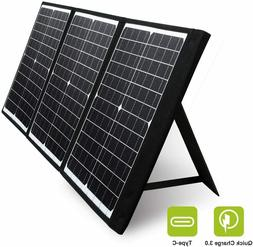 Foldable 60W Solar Panel Charger For Solar Generator Power S