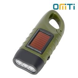 <font><b>Portable</b></font> LED Flashlight Hand Crank Dynam