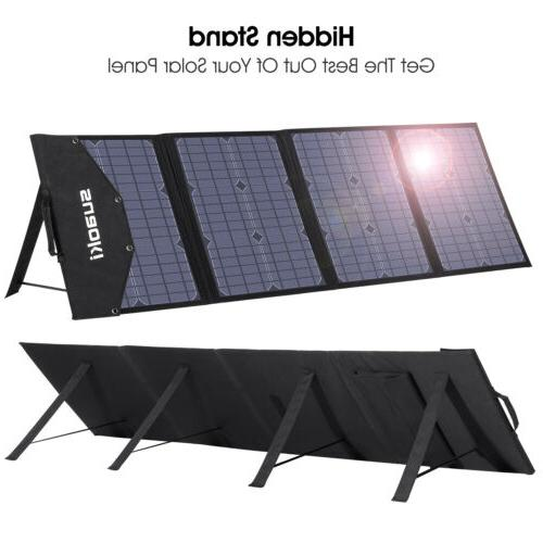 Suaoki 100W Foldable Solar Panel Charger For Power Station G