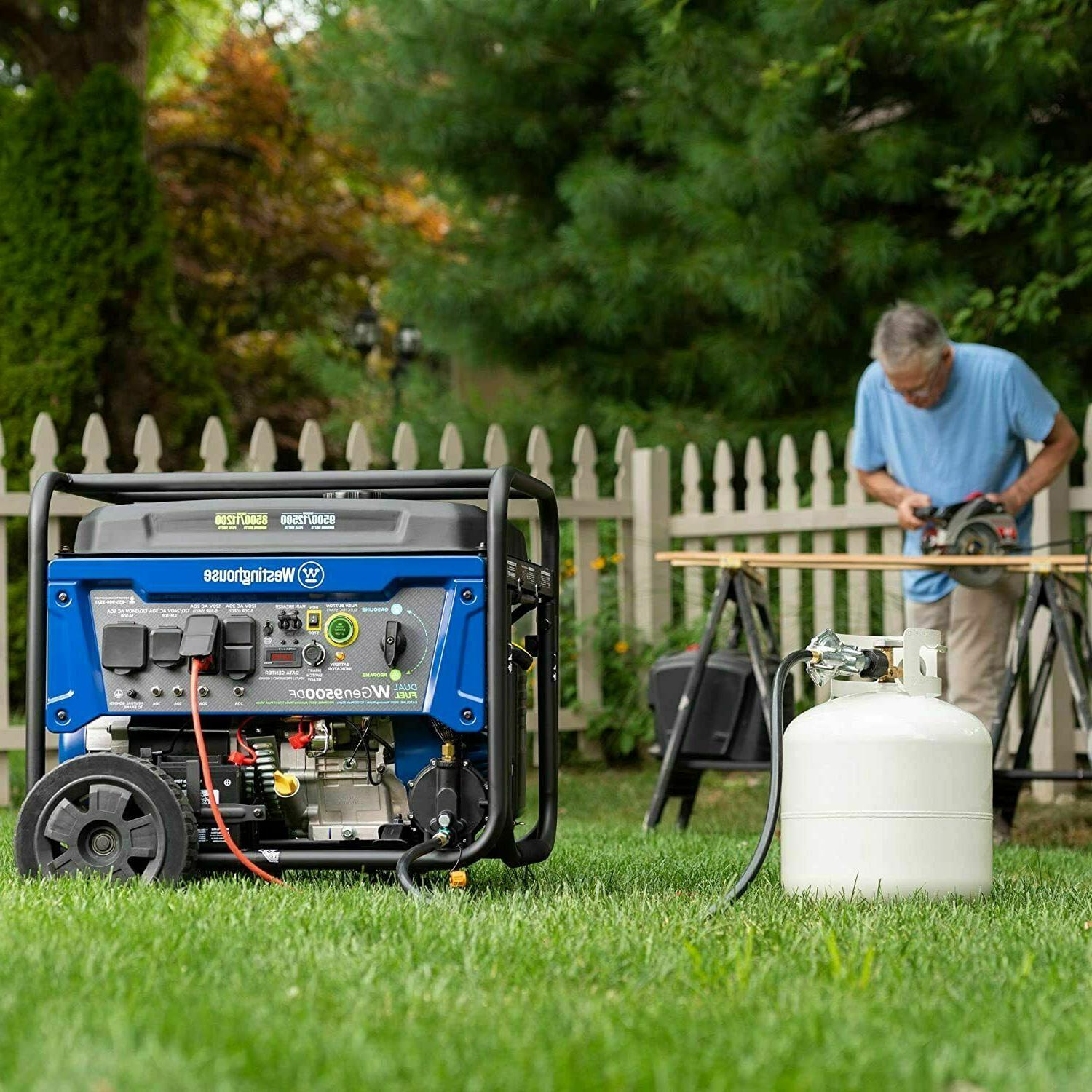 Westinghouse Portable Dual Fuel Gas with Remote