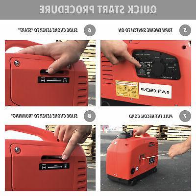 1250-Watts Portable Generator Gas Powered