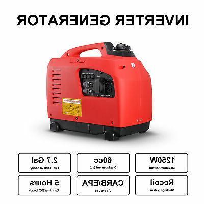 1250-Watts Inverter Generator 4-Stroke Gas