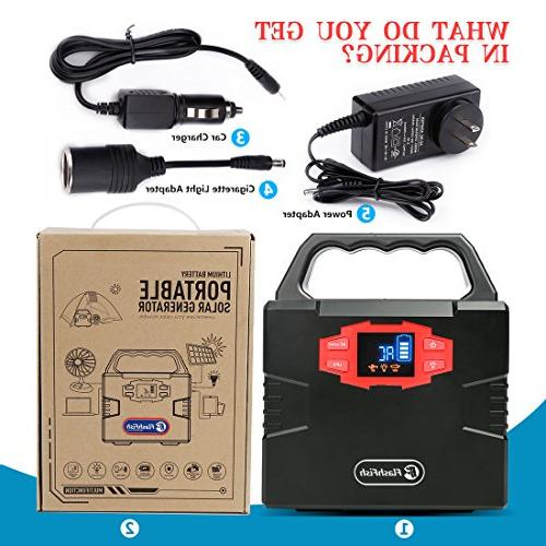 150WH Generator Power Outage Station CPAP Power by Outlet/Car, Backup Battery with AC Outlet, DC and USB Ports