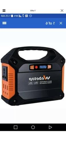 Webetop 155Wh 42000mAh Portable Generator Inverter Battery 1