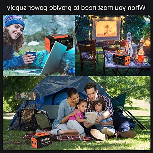 Webetop 45000mAh Portable Generator Inverter Battery Camping Home UPS Solar Panel/Wall AC 3 DC 12V, 2 Port