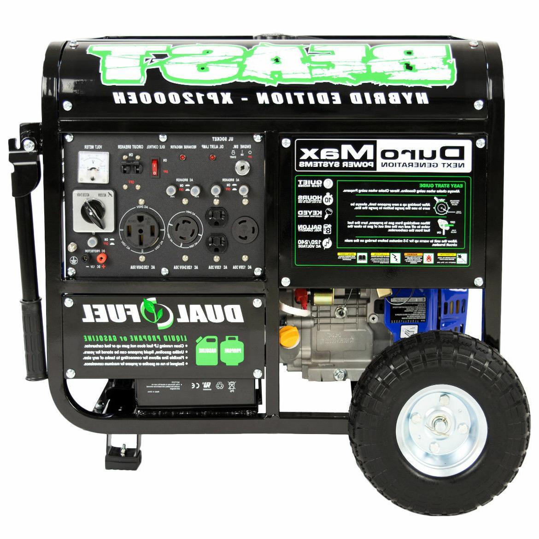 DuroMax 12000 Watt 18hp Portable Hybrid Gas Propane Generato
