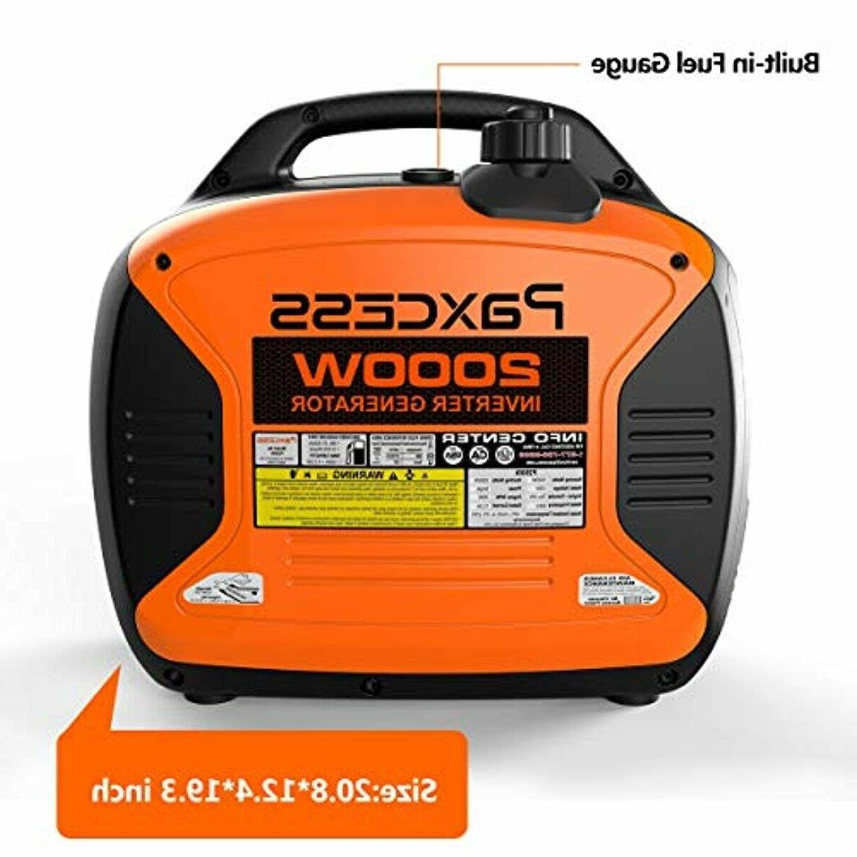 Paxcess 2000-Watt Portable Gas Powered Inverter Generator Home RV
