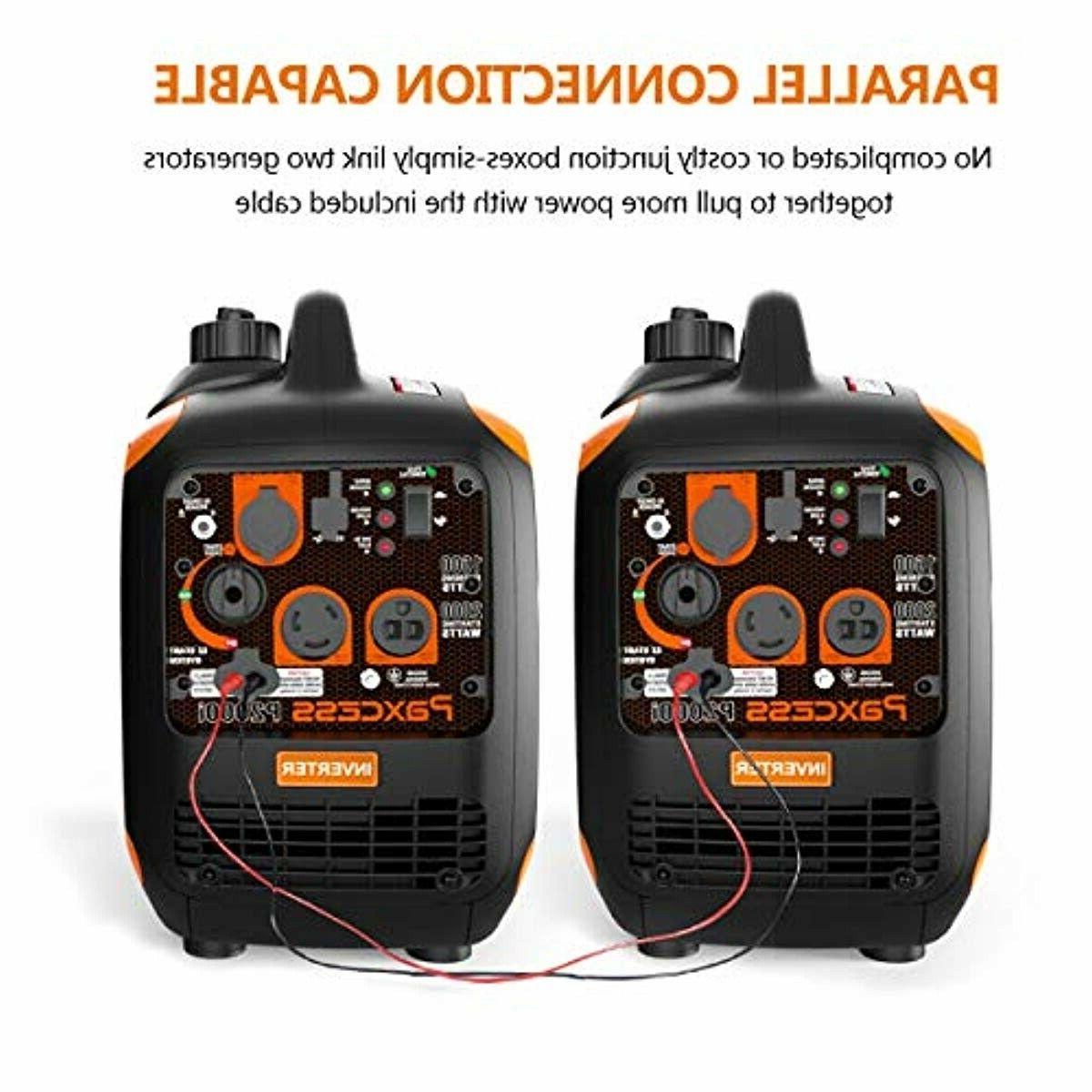 Paxcess Portable Gas Powered Inverter Generator Home RV