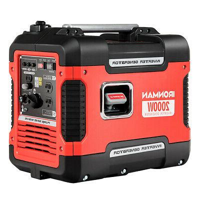 2000W Portable Inverter Gasoline Generator Quiet Lightweight