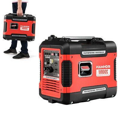 2000w portable inverter gasoline generator ultra quiet