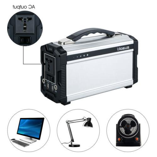 Suaoki 222Wh Outdoor Solar Generator Power Portable Energy S