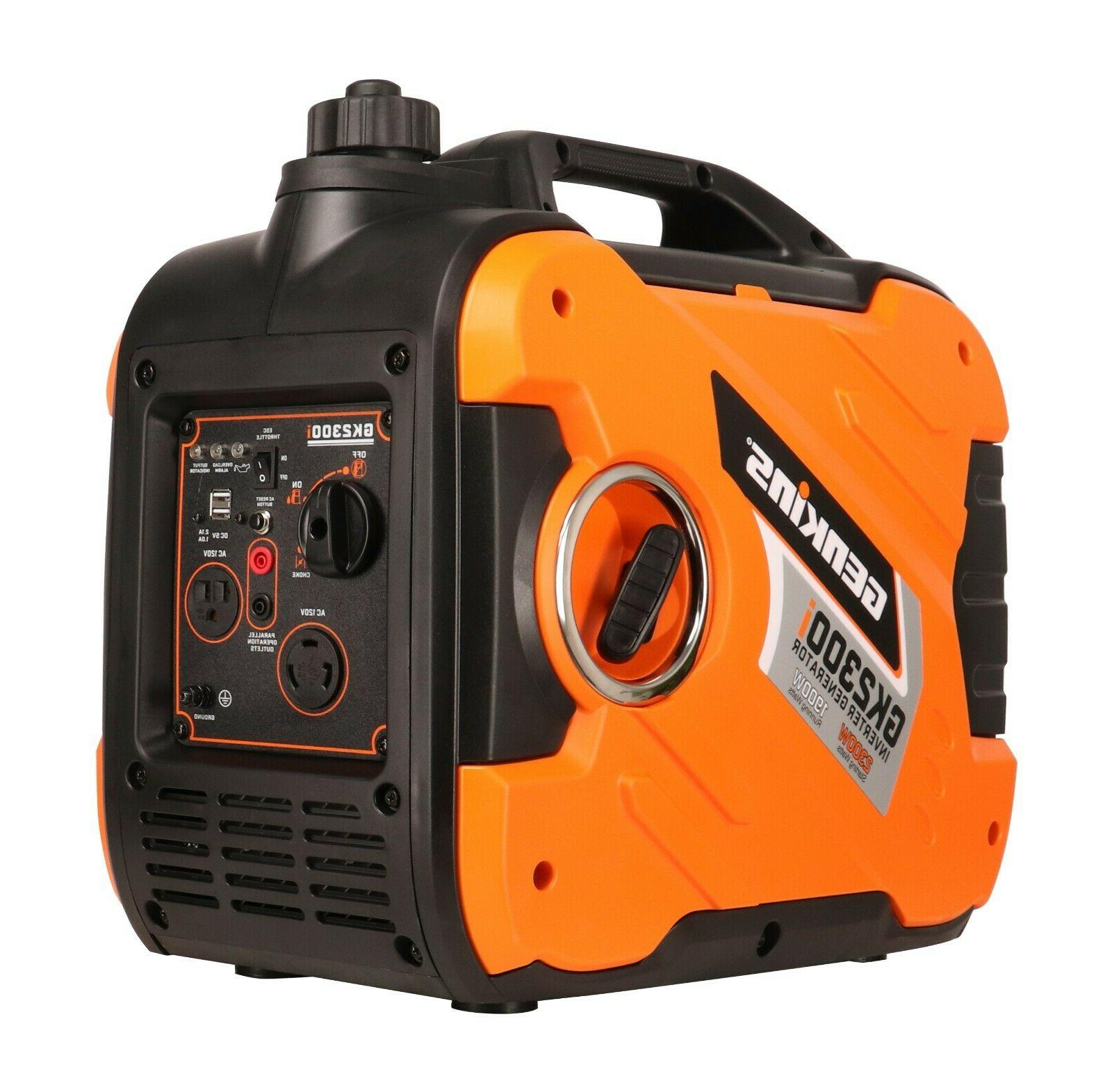 2300 watt portable inverter generator gas powered