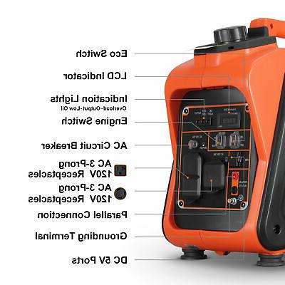 2400W Portable Gasoline Quiet Inverter Generator CARB EPA