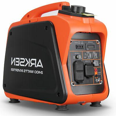 2400w portable gasoline powered quiet inverter generator