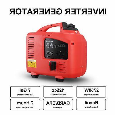 2750w Quiet Generator CARB Camping