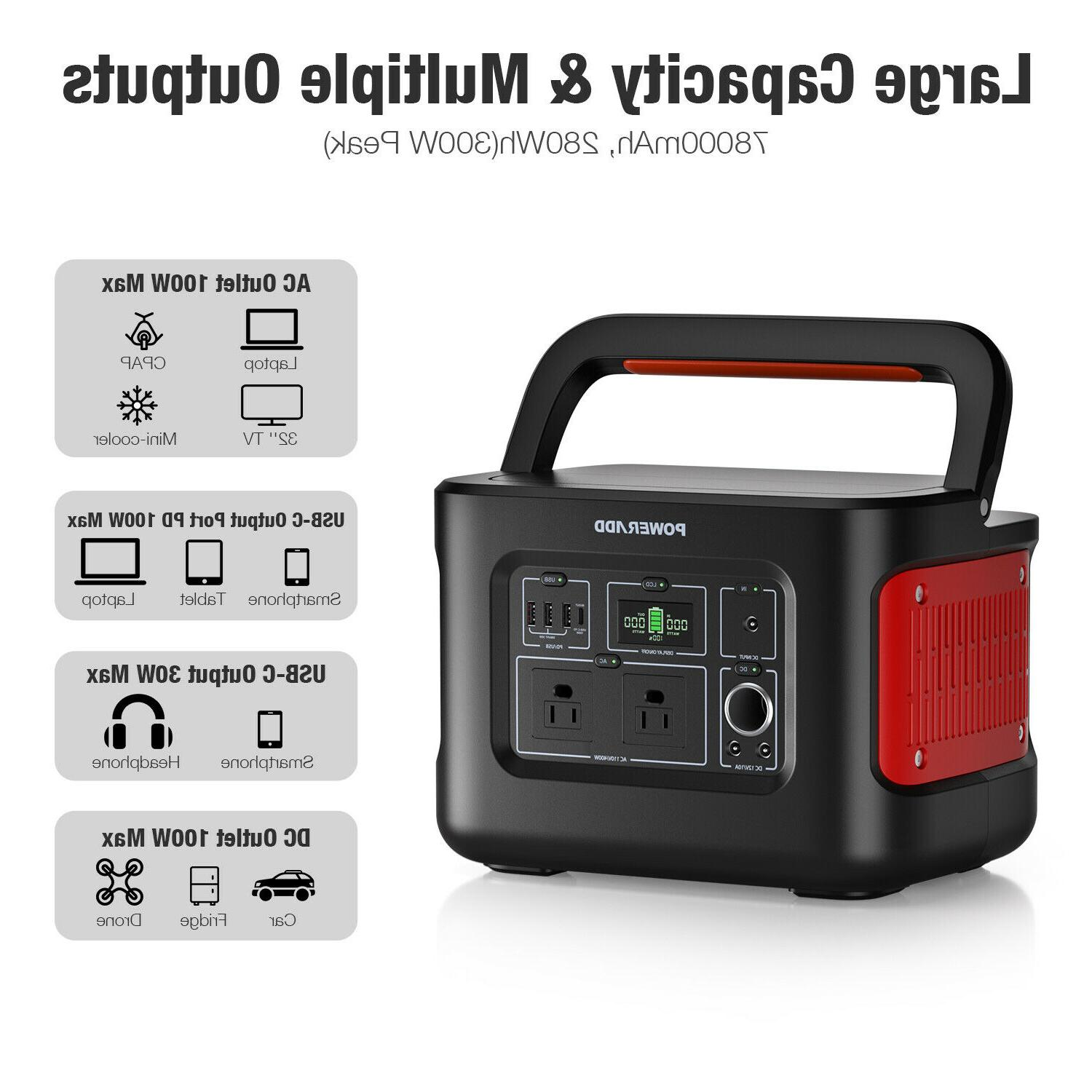 280Wh/78000mAh Delivery Generator Outdoor Travel/CPAP