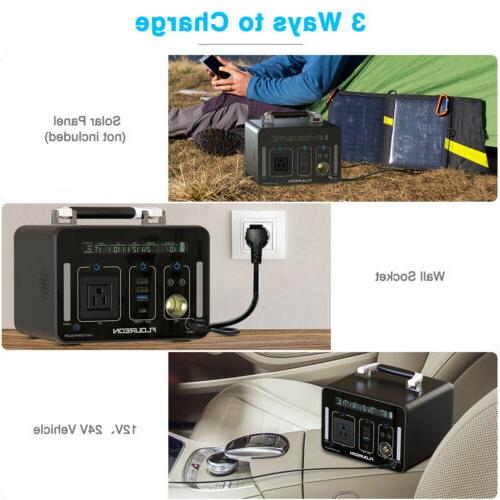 Portable 500Wh Inverter Power Bank DC Quick Charge US