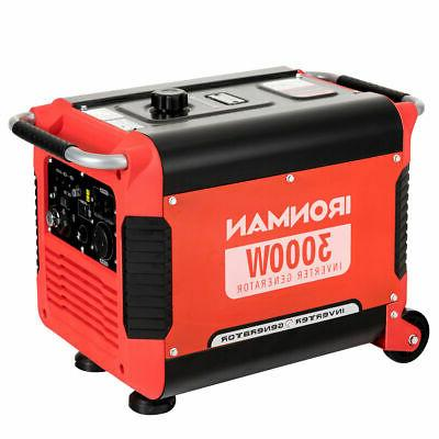 3000w portable inverter gasoline generator ultra quiet