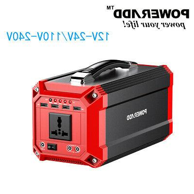 300w 73000mah 12v 240v portable generator supply