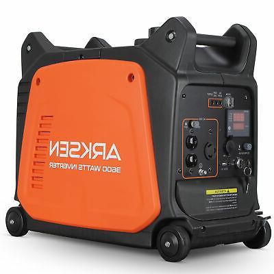 3600w portable gasoline powered quiet inverter generator