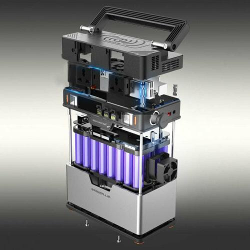 372Wh QI Solar Power Station Portable Emergency