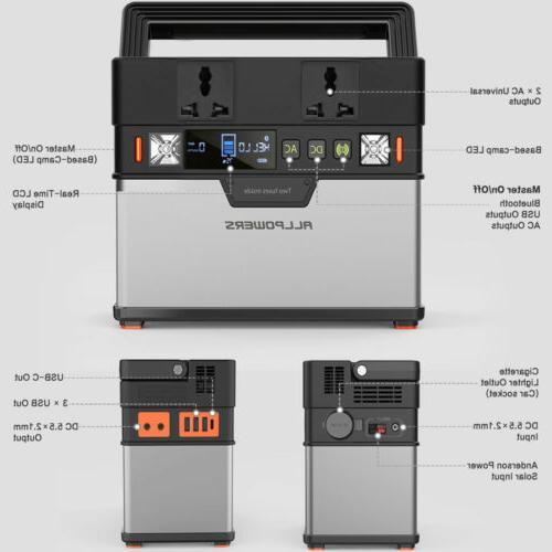 372Wh Solar Portable Power Emergency