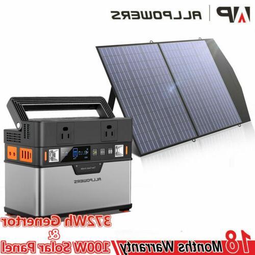 18V100W Folding Solar Panel Portable Solar Generator Power S