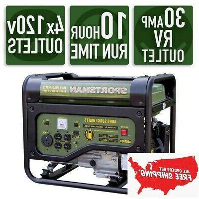 portable generator rv outlet 3 500v gasoline