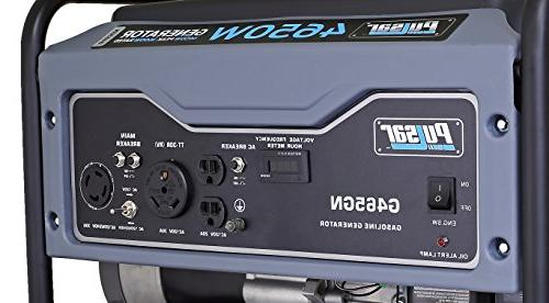 Pulsar 4,650W Portable Gas-Powered Generator with in Gray,